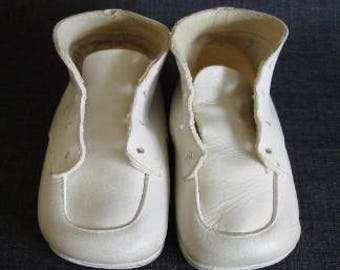 Antique Leather Baby Shoes, White Antique Baby Shoes, Baby Shoes, Leather Baby Shoes, Antique Baby