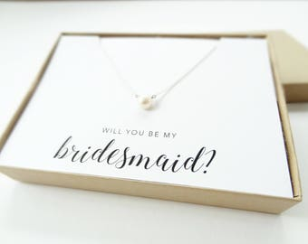 Will You Be My Bridesmaid Jewelry Boxes (Necklace not included) | Bridesmaid Gifts | Bridesmaid Necklace Box | LJBS2N-WILL