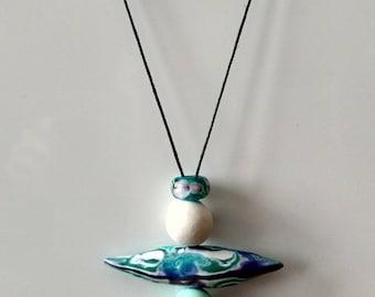OOAK Peace Keeper Inuksuk Handmade Polymer Clay Necklace
