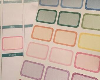 24 Wave Half Boxes Planner Stickers for Erin Condren Life Planner (ECLP) Reminder Sticker LDD1106