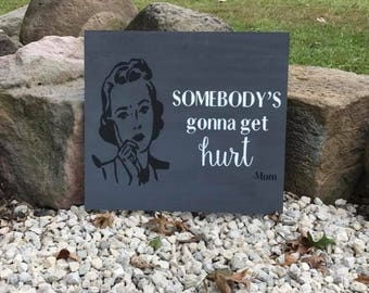 16x20 wood sign with your favorite quite from your family member! Any colors