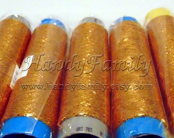 Lame thread. Glitter Yarn sparkle yarn old gold color (04a) yarn metal yarn lame. Lace thread crochet thread embroiderin lace knitting