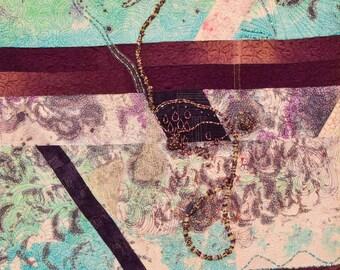 Art Quilt, abstract art quit, modern wall hanging, textile wall hanging, fiber wall hanging, wall hanging, wall decor, wall art