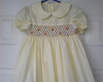 Smocking  Yellow Dress