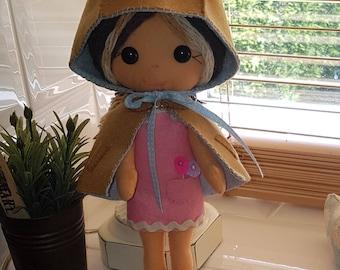 GingerMelon inspired Woodland felt doll