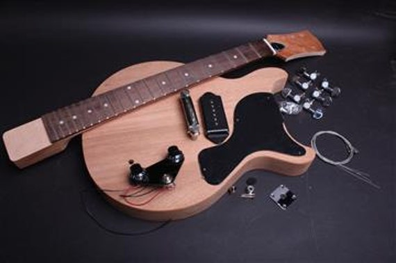build your own electric guitar kit jr double cut african. Black Bedroom Furniture Sets. Home Design Ideas