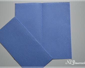 Felt 1 mm 30 x 30 cm blue fabric