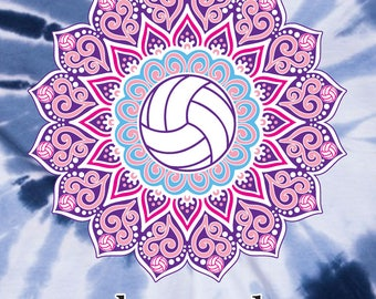 My Happy Place - Tie-Dye Volleyball T-shirt