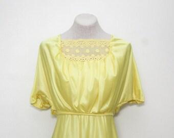 1970's yellow maxi dress