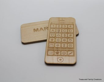 Personalized Phone Toy Wooden Smart Phone