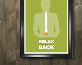 Chiropractic 11x17 minimalism poster print - Graduation, Teacher Gifts - Home & Dorm Decor