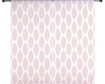 Pink Curtains - Chiffon Curtains - Sheer Curtains - Dorm Room Curtains - Girls Curtains - Bedroom Curtains - Teen Curtains - Teen Decor