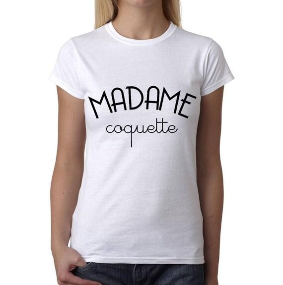 Madame coquette t shirt femme 100 fait main - Madame coquette ...