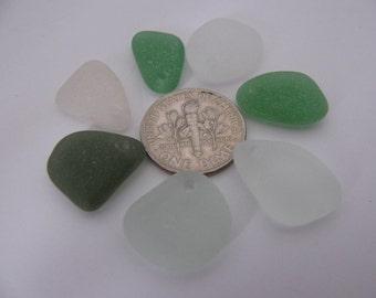 Drilled Sea Glass Beads, Jewelry Supply, Bulk white sea foam green Beads - Eco Friendly Beach Glass