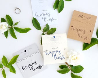 50 Happy Tears Tissue Packs for Wedding Ceremony, Wedding Tissues, Tears of Joy, Rustic Design, Custom Decorations, Personalized Decorations