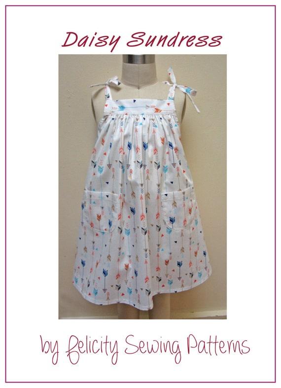 Girls dress sewing pattern Daisy Sundress digital
