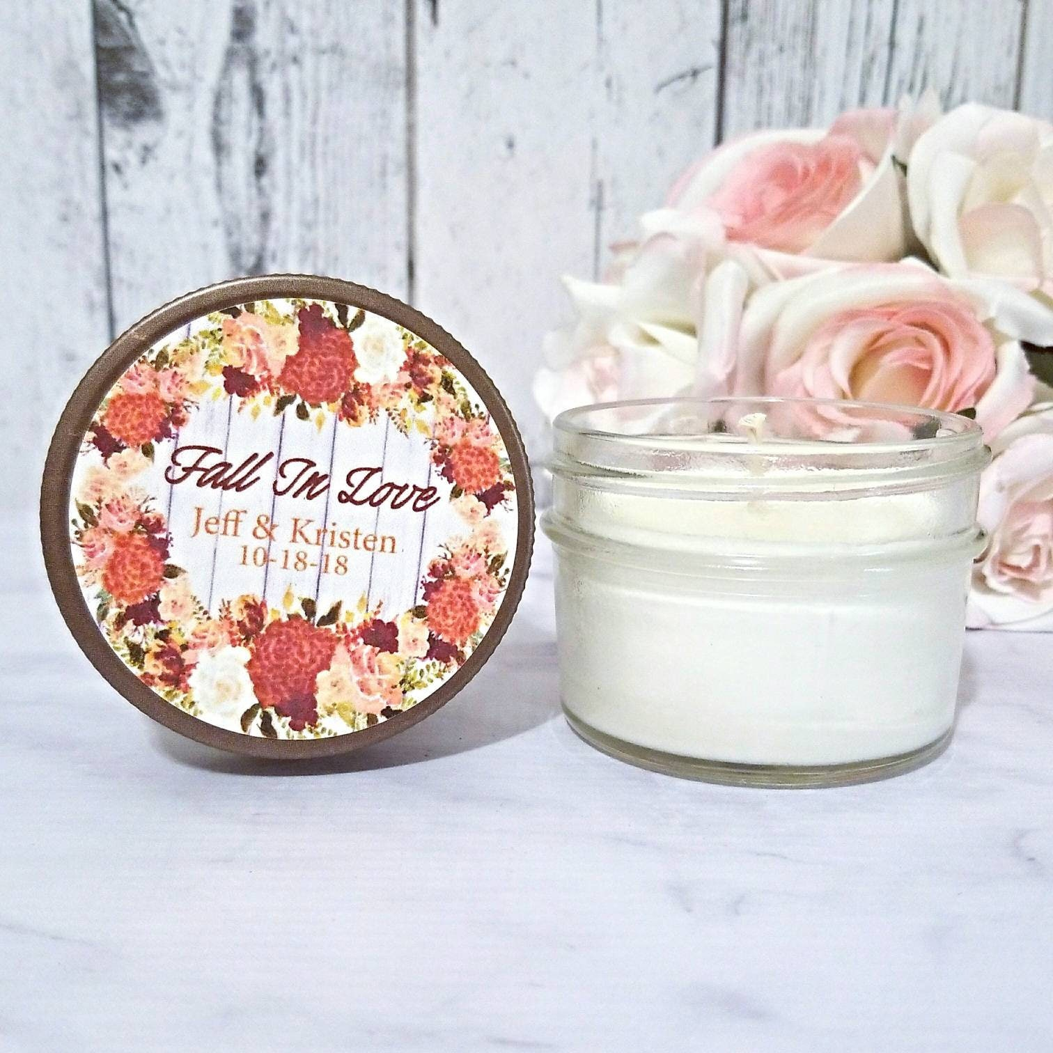 Wedding Candle Favors - Autumn Wedding Favor / Fall Wedding Favor ...