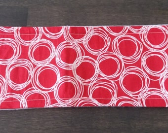 Red Circle Swirl Male Dog Belly Band - M