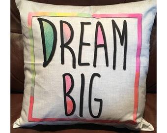 Dream Big on White Background Throw Pillow