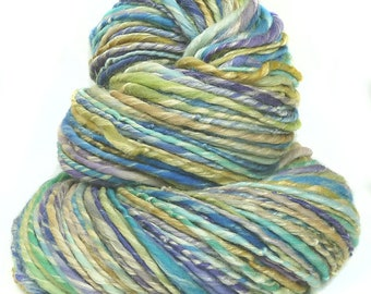 Handspun Yarn handdyed merino wool and soyilk