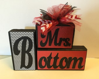 Teacher Name Sign - Personalized - Name Sign – Red and Black