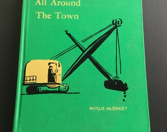Vintage Book, All Around Town, by Phyllis McGinley, copyright 1948