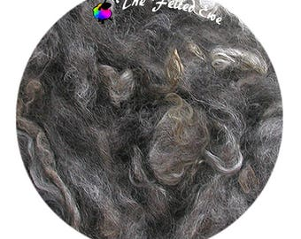 Grey Woolie Locks for Needle Felting & Doll Hair