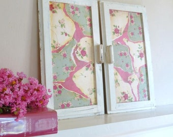 Upcycled Wall Hanging,  Repurposed Cabinet Doors,  Cottage Decor