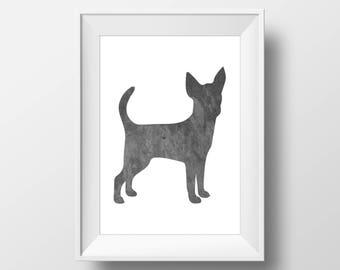 Chalkboard Chihuahua Print, Chihuahua Print, Chihuahua art, Dog decor, Dog lover gift, Chihuahua Wall Art