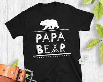 papa shirt gift - bamboo clothing - papa bear shirt - pregnancy reveal - papa gift - new dad gift ideas - new dad gift set - new daddy - yhEAGV