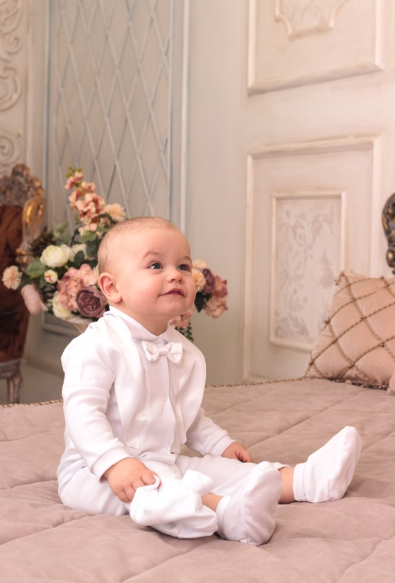 baby boy christening outfit white suit toddler baby boy