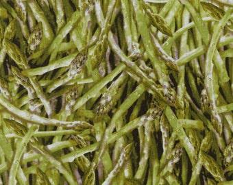 Asparagus Green Vegetable Farmers Market RJR fabric 1/2 yard