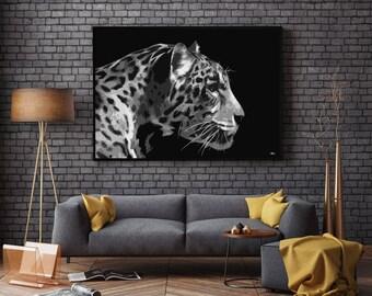 Large wall art, modern art, trending now, big cat print, jaguar print, big cat, home decor, large print, big art, pop art print, wall decor