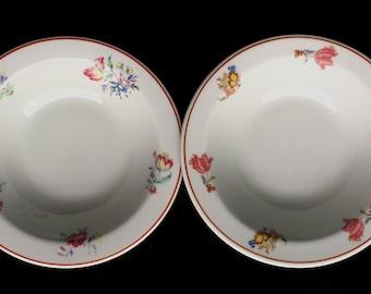 "Vintage Shenango Restaurant Hotel Diner China 6-3/8"" ""Pasadena"" Bowls (Set of Two) in Excellent Condition"