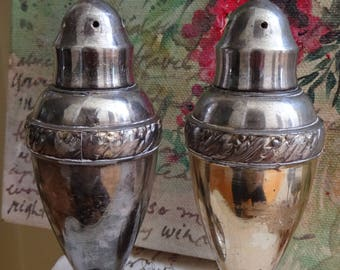 Vintage Set of Silverplate Luraline Salt and Pepper Shakers