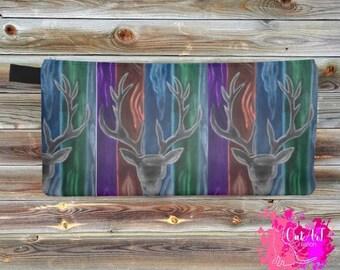 Case pencil, watercolor, colored deer trio
