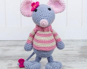 Emily the Mouse Amigurumi - PDF Crochet Pattern - Instant Download - Amigurumi crochet Animal Cuddy Stuff Plush