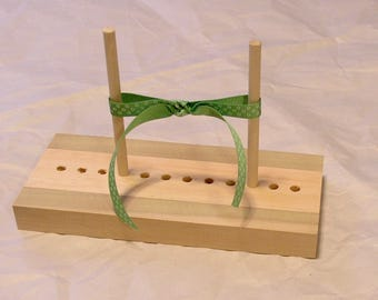 Free First Class USA Shipping Ribbon Bow Maker, with peg holders for Scrapbooking & Cardmaking - select wood combinations