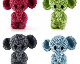 Hoooked DIY Crochet Kit Mo the Elephant Amigurumi Eco Barbante Recycled Toy Gift