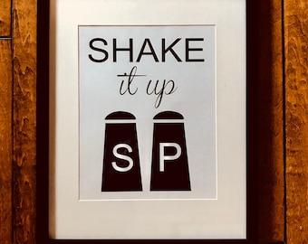 Shake It Up/ Kitchen Art/ digital print