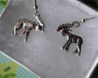 Moose Elk Deer Earrings