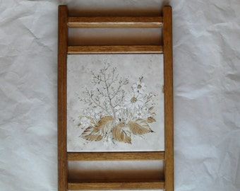 Tile Hot Plate Floral Ceramic Wall hanging