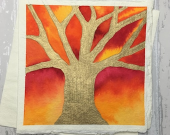 Watercolour Tree Greeting Card