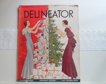 Delineator Magazine December 1931 ...beautiful cover art by Dynevor Rhys