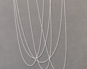 Finished Sterling Chain - Sterling Silver Chain - .4mm Cable Chain - 18 Inches Long - With 10mm Lobster Clasp