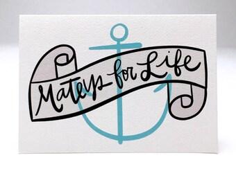 mateys for life // friendship card // bff // besties // friends