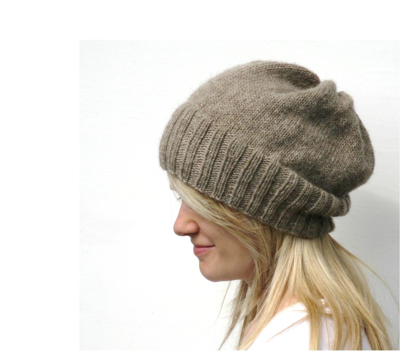 DK Eco Slouchy Hat Knitting Pattern PDF from haloopajoop on Etsy Studio
