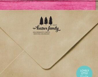 Modern custom self inking address stamp style 731 - Lovely Little Party