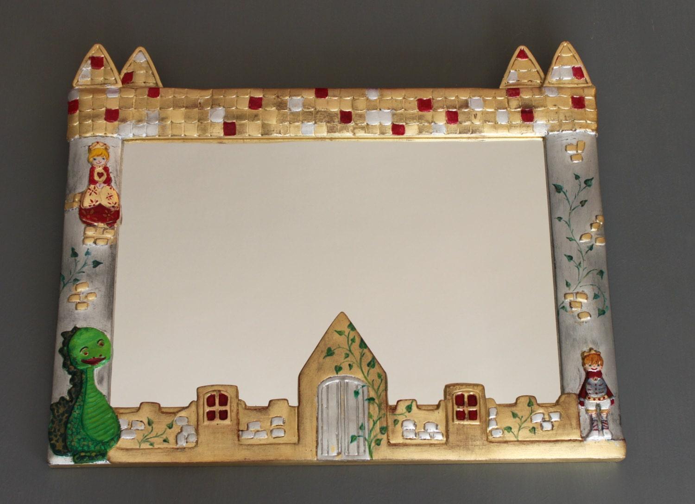 Marco espejo Castillo infantil: princesa dragón y el