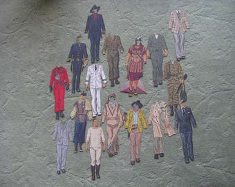 FREE SHIPPING...older John Wayne paper doll and movie costumes later in life